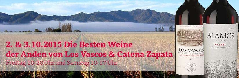 VINELLO.tasting am 2. und 3.10.2015: Premiumweine vom Fuße der Anden in unserem VINELLO.winestore.