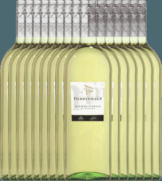 15er Paket - Weißer Herrenhaus Winzerglühwein 1,0l - Lergenmüller