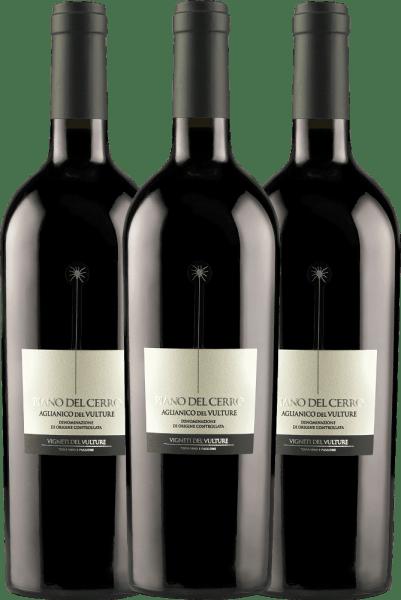 3er Vorteils-Weinpaket - Piano del Cerro Aglianico del Vulture DOC 2018 - Vigneti del Vulture von Vigneti Del Vulture