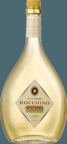 Dieser Grappa entsteht aus dem Trester der Moscato-Trauben, die in Canelli angebaut werden. Der Grappa Gran Moscato von Bocchinogehört zur Traditions-Linie der Distilleria Bocchino, der Trester wird im Kupferalambik destilliert und anschliessend in großen Holzfässern über einen Zeitraum von 24 Monaten ausgebaut.Dadurch erhält er seine elegante goldgelbe Farbe. Der Grappa Gran Moscato Bocchino zeitg sein typisch intensives, warmes Bouquet, im Geschmack ist er klar, weich und harmonisch.