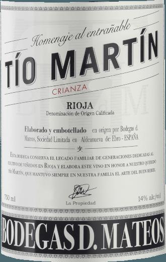 Tio Martin Crianza 2016 - Bodegas D. Mateos von Bodegas D. Mateos