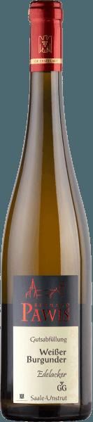 DerEdelacker Weißer Burgunder Großes Gewächs von Weingut Bernhard Pawis verwöhnt mit einer kühlen Nase mit etwas Rauch, Feuerstein, Kräutern und frisch-vegetativen Noten. Am Gaumen zeigt sich der Weißburgunder klar, mit reifer Birnenfrucht, Ananas und Mango, von leichten mineralischen Noten umrahmt. Der elegante Weißwein aus dem Unstruttal ist straff strukturiert, mit tief und dicht in seiner Textur. Ein reifer, ausgewogener Wein mit langem Nachhall. Speiseempfehlung und Degustationstipp Dieser elegante Weiße Burgunder von Pawis passt zu Fischgerichtem hellem Fleisch und Gerichten mit Gemüse. Frisch gekühlt ist er auch als Aperitif ein Genuss.