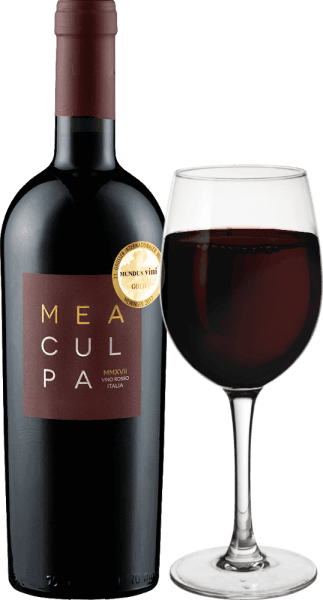 "The MEA CULPA Vino Rosso Italia from Casa Vinicola Minini is a very expressive cuvée of Primitivo, Syrah and Merlot. Mea Culpa - my fault, please forgive me - is Mario Minini's not very serious statement, who has composed what he thinks is the best cuvée he can imagine from the best batches of his wines from different regions. ""MEA CULPA, please forgive me, but we're doing this as I say! It will be the most accurate cuvée with the greatest excellence and the best expression, no matter what it takes."" Mario Minini Like its younger brother - the TANK Nero d' Avola - the red blend Mea Culpa was produced using the Appassimento process, which means that it contains particularly intense grapes because they have dried. The MEA CULPA Vino Rosso Italia comes into the glass with a deep dark, extremely dense purple red colour and an almost black core. The nose enraptured with dense cherry notes. Dried cherry, Mon Cheri, rum cherry, juicy heart cherries, cherry crumble and many other associations come to mind. The aroma is complemented by ripe blackberries and strawberries. Noble, wintry-Christmas-strong nuances of mocha, vanilla and dark chocolate complete the bouquet of the MEA CULPA red wine. On the palate, the Mea Culpa is extremely juicy, round and powerful. This wine is the answer to grey November and ice-cold December evenings. In spite of the lush alcohol, Mea Culpa does not look astringent, but fruity, spicy and wonderfully velvety. The round and soft tannins are complemented by a fine enamel and a vital fruit acid, which prevents this red wine powerhouse from appearing clumsy and awkward."