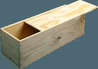 B-STOCK - 1 bottle wine wooden box with sliding lid
