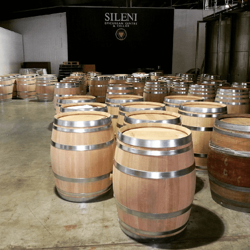 Barrels over barrels in the wine cellar of Sileni