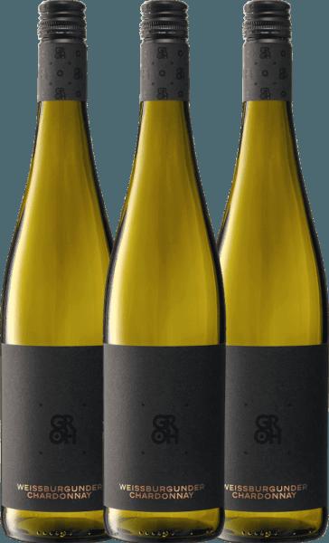 3er Vorteils-Weinpaket - Grohsartig Weißburgunder Chardonnay 2019 - Groh von Weingut Groh