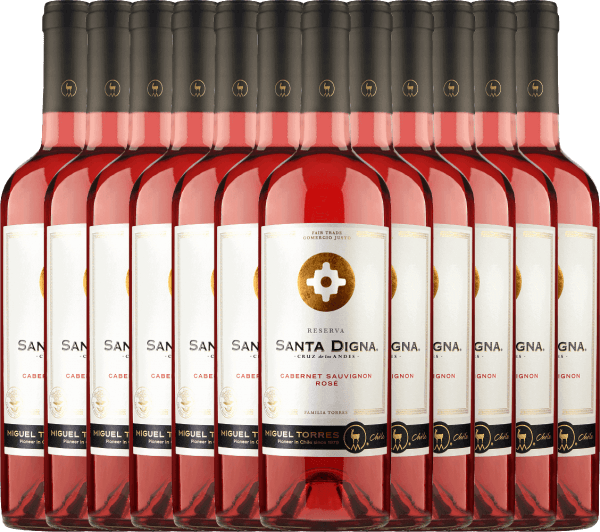 12er Vorteils-Weinpaket Santa Digna Rosé 2021 - Miguel Torres Chile