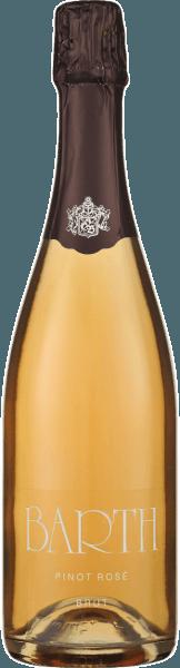 Der Barth Pinot Rosé brut b.A. vom Wein- und Sektgut Barth zeigt sich im Glas in einem zarten Rosé und offenbart ein fruchtiges Bouquet, welches von den Aromen von Beeren geprägt ist. Dieser klassische Rosé verführt mit seiner Frucht und Eleganz. Ein feiner Sekt, der animiert und fröhlich macht- ideal für Geburtstage, Hochzeiten und Feiern. Vinifikation für den Barth Pinot Rosé Dieser Rosé-Schaumwein aus dem Rheingau wird aus vollreifen Spätburgunder-Trauben vinifiziert, welche handverlesen selektiert werden. Nach einer kurzen Maischestandzeit, um die Extrahierung der Farbstoffe zu ermöglichen, werden die Trauben schonend gepresst und anschließend nach der Methode der traditionellen Flaschengärung versektet. Daraufhin reift dieser Schaumwein für 2 Jahre auf der Hefe und wird von Hand gerüttelt. Speiseempfehlung für den Barth Pinot Rosé Genießen Sie diesen Sekt als Aperitif, zu Kaviar und Austern, Hummer und Lachs, gedünstetem Heilbutt auf Pfeffer-Senf-Sauce oder zu Erdbeeren. Auszeichnungen für den Barth Pinot Rosé Gault Millau 2015: 86 Punkte