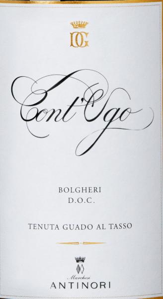 Der Cont'Ugo Bolgheri DOC von Guado al Tasso reiht sich ein in die Spitzenweine dieses feinen Weingutes der Marchesi Antinori. Der Cont'Ugo Bolgheri leuchtet herrlich rot im Glas, an der Nase heben sich intensive Noten, gut eingebundene Noten von reifen Kirschen und Heidelbeere hervor, ergänzt durch ansprechende Aromen von kandiertem Obst und süßen Gewürzen. Am Gaumen präsentiert sich der Cont'Ugo weich, ausgewogen und nachhaltig im Geschmack, ein Wein, der geprägt ist von Harmonie und Gefälligkeit bis in den langen fruchtigen Nachhall. Vinifikation des Cont'Ugo Bolgheri DOC von Guado al Tasso Seit dem Jahr 2011 ist es möglich im Anbaugebiet Bolgheri DOC das Potential der Weinberge auch für einen reinen Merlot zu nutzen. Für den Cont'Ugo Bolgheri DOC wurden die besten Merlot-Trauben aus den Weinbergen von Guado al Tasso ausgewählt, manuell gelesen und im Weinkeller nochmals selektiert. Die alkoholische Gärung und Mazeration findet in Edelstahltanks statt. Dabei wird die Gärtemperatur wird je nach Reifegrad der Trauben gesteuert: einige bei niedrigen Temperaturen, um eine bessere aromatische Frische zu erhalten, anderen bei 30°C, für eine bessere Extraktion der Polyphenole und für die Struktur. Diese so verschiedenen Merlots werden nun getrennt in Barriques gefüllt, 1/3 davon neu, in denen bis Ende des Jahres die malolaktische Gärung vollständig vollzogen wird. Es folgen 8 Monate Ausbau in Barriques aus französischer Eiche, die besten Partien werden zusammengeführt und die Merlot-Cuvée noch weitere 4 Monate in Barriques ausgebaut. Nach der Abfüllung ruht der Wein noch 6 Monate im Flaschenlager bevor er in den Verkauf kommt. Speiseempfehlungen für den Cont'Ugo Bolgheri DOC von Guado al Tasso Genießen Sie diesen ausgezeichneten Merlot aus Bolgheri zu Pasta mit Fleischsoßen, Risotto mit Pilzen, Wildschweinragout, reife Käsesorten, Aufschnitt, Wild aller Art. Auszeichnungen für den Cont'Ugo Bolgheri DOC von Tenuta Guado al Tasso Wine Advocate Robert M.Parker: 91+ Punkte 