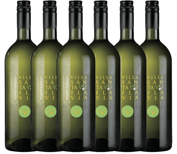 Der Pinot Grigio vom Weingut Villa Santa Flavia bietet frischen, milden Weingenuss. Die Nase und der Gaumen erfreuen sich an fruchtig-frischen Aromen nach knackigen Äpfeln mit dezenter Kräuternote. Erwerben Sie den italienischen Weißwein im praktischen 6er Vorteilspaket. Mehr zu diesem trockenen Weißwein aus Italien erfahren Sie im Einzelartikel desPinot Grigio von Villa Santa Flavia.