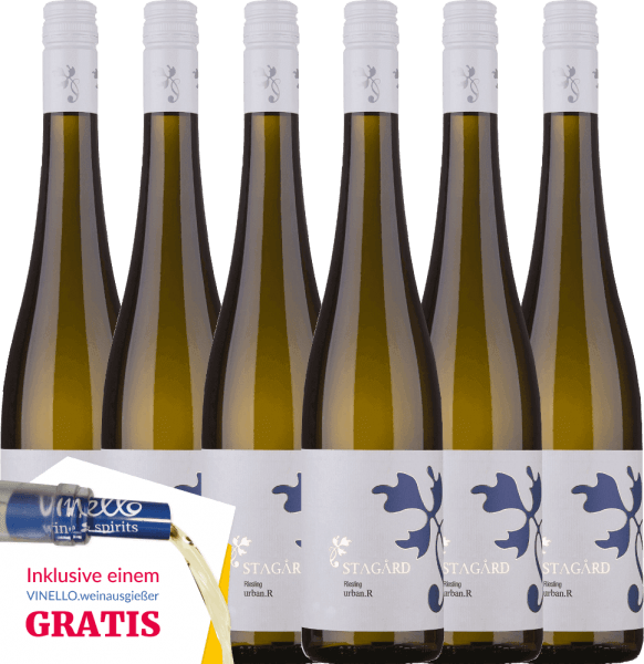 6er Vorteils-Weinpaket - Urban.R Riesling 2019 - Lesehof Stagard von Lesehof Stagård