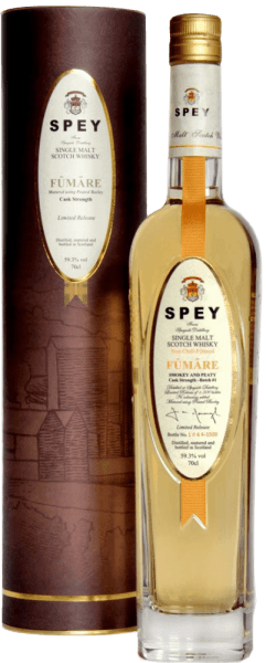 Spey Fumare peated Cask Strength Single Malt Scotch Whisky - Speyside Distillery