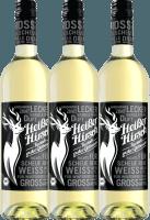 3er Vorteilspaket - Weißer Bio-Glühwein - Heißer Hirsch