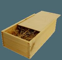 B-STOCK - 2 bottles wine wooden box with sliding lid