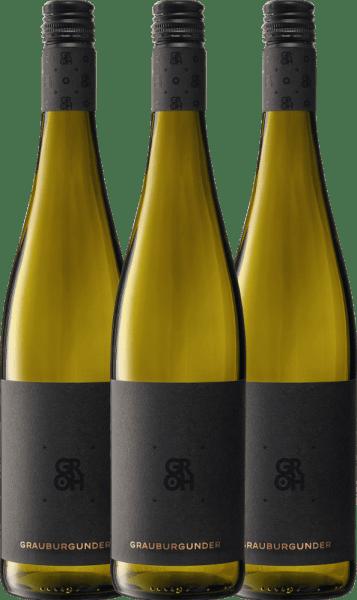 3er Vorteils-Weinpaket - Grauburgunder 2019 - Groh von Weingut Groh