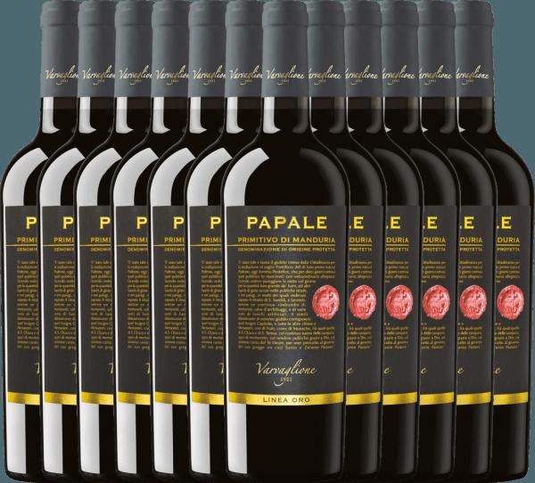 12er Vorteils-Weinpaket - Papale Linea Oro Primitivo di Manduria 2017 - Varvaglione