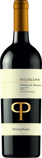 With the Pietra Pura Dolceluna Primitivo di Manduria Dolce Naturale, a first-class red wine comes into the waved glass. In this it reveals a wonderfully bright, purple-red colour. When held at a slight angle, the dessert wine glass reveals a charming garnet red tone at the edges. The bouquet of this red wine from Puglia is captivating with notes of Mon Cheri cherry, wild berry jam, dried fruit and morello cherry. Let's continue to explore the aromas and, encouraged by the influence of oak, black tea, dark chocolate and cocoa bean are added. On the tongue, this balanced red wine is characterised by an exceptionally velvety texture. The Dolceluna Primitivo di Manduria Dolce Naturale presents itself wonderfully fresh and lively on the palate due to its vital fruit acidity. The finale of this well-ageing red wine from the Puglia wine growing region, more precisely from Primitivo di Manduria Dolce Naturale DOCG, finally inspires with considerable reverberation. Vinification of the Dolceluna Primitivo di Manduria Dolce Naturale from Pietra Pura The basis for the balanced Dolceluna Primitivo di Manduria Dolce Naturale from Apulia is grapes from the Primitivo grape variety. After the harvest, the grapes reach the winery as quickly as possible. Here they are sorted and carefully broken up. This is followed by fermentation in small wood at controlled temperatures. The vinification is followed by a maturation of 12 months in barriques of French and American oak. Recommended food for the Dolceluna Primitivo di Manduria Dolce Naturale from Pietra Pura Drink this red wine from Italy ideally tempered at 15 - 18°C as an accompaniment to almond milk jelly with lychees, veal and onion casserole or banana trifle in a glass.