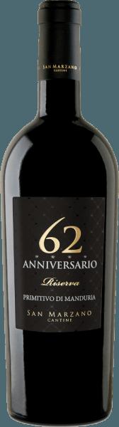 Anniversario 62 Primitivo di Manduria DOC 2017 - Cantine San Marzano