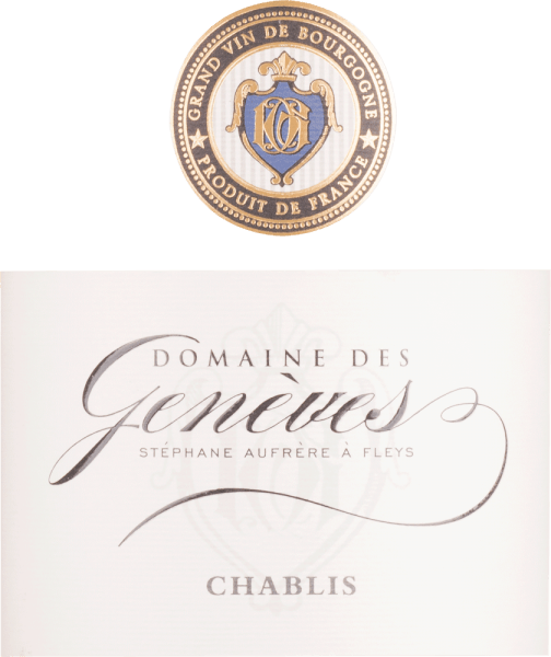 Chablis AOC 2018 - Domaine des Genèves von Domaine des Genèves