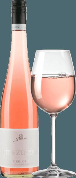 3er Vorteils-Weinpaket - Merlot Rosé eins zu eins feinherb 2019 - A. Diehl von Weingut A. Diehl