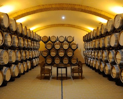 The wine cellar of Huerta de Albala
