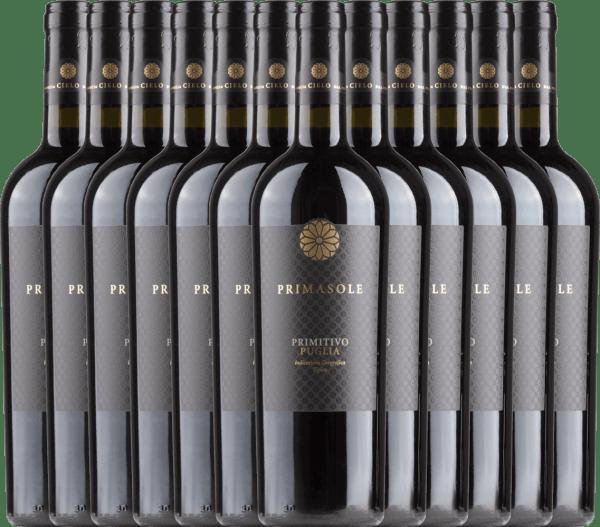 12er Vorteils-Weinpaket - Primasole Primitivo 2018 - Cielo e Terra von Cielo e Terra