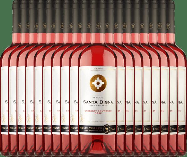 18er Vorteils-Weinpaket Santa Digna Rosé 2021 - Miguel Torres Chile