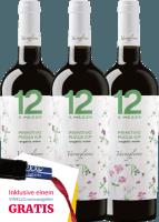 Preview: 3er Vorteils-Weinpaket - 12 e Mezzo Primitivo Organic 2018 - Varvaglione