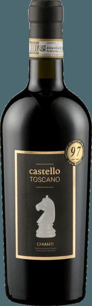 Der Chianti von Castello Toscano zeigt sich intensiv Rubinrot im Glas. In der Nase zeigt er die für den Sangiovese typischen blumigen Duftnoten, vor allem Veilchen und Iris, umrahmt von reifer Kirschfrucht und edlen Holzaromen. Am Gaumen weist dieser elegante Chianti von Castello Toscano ein ausgewogenes Spiel von Fruchtigkeit und Frische auf. Runde Tannine, eine feine Holznote und ein besonders weicher Geschmack machen diesen klassischen Chianti zum Genuss. Vinifikation des Chianti von Castello Toscano Für diesen Chianti werden die Sangiovese-Trauben traditionell vinifiziert. Nach der Gärung wird der Chianti 9 Monate in kleinen Holzfässern ausgebaut. Speiseempfehlung für den Castello Toscano Chianti Genießen Sie diesen italienischen Rotwein zu Pappardelle mit Hasenragout oder zu herzhaften Fleischgerichten.