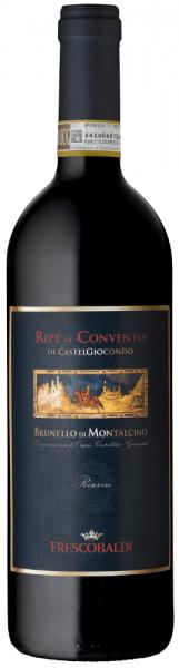 Der Ripe al Convento di CastelGiocondo Brunello di Montalcino Riserva DOCG von Tenuta di CastelGiocondo von Frescobaldi ist ein aussergewöhnlicher Cru mit starker Persönlichkeit und mit großem Reifepotential ausgestattet. Insbesondere das Jahr 2010 hat ideale Vorraussetzungen für die Entstehung großer Weine geboten. Der Ripe al Convento di Castelgiocondo Brunello Riserva präsentiert sich in einem kräftigen Rubinrot mit Granatreflexen, von schöner Farbtiefe, sehr dicht und klar. An der Nase begeistert er mit intensiven und komplexen Duftnoten, darunter zunächst fruchtige Aromen von kleinen roten und schwarzen Beeren wie Brombeere und schwarze Johannisbeere und dann Pflaume, gefolgt von würzige Noten von Vanille, geröstetem Kaffee, Kakao und Tabak. Am Gaumen zeigt sich dieser Brunello Riserva weich und ausgewogen in Alkohol und Säure, warm undreich an schön eingebundenen Tanninen. Langer, dichter Abgang mit schönen fruchtig, würzigen Aromen im Nachhall. Herstellung des Ripe al Convento di CastelGiocondo Brunello di Montalcino Riserva von Frescobaldi Die Trauben für diesen mächtigen Brunello di Montalcino Riserva Cru wachsen in den Weinbergen Ripe al Convento vom Weingut CastelGiocondo auf etwa 350 bis 450 m.ü.d.M. Die Trauben des Sangiovese Grosso werden selektiv gelesen, der Maischegärung von 1 Monat und der malolaktischen Gärung folgt dann der Ausbau in Holzfässern aus slawonischer Eiche und Barriques aus französischer Eiche. Die Ausbaudauer beträgt sechs Jahre ab dem 1. Januar nach der Ernte, erst dann wird die Brunello Riserva für den Handel freigegeben.Dieser Brunello Riserva von Tenuta CastelGiocondo wird nur in den besten Jahrgängen erzeugt. Food pairing für denRipe al Convento di CastelGiocondo Brunello di Montalcino Riserva von Frescobaldi Genießen sie diesen exquisiten Spitzenwein als Meditationswein oder zu Braten, anspruchsvollen Gerichten mit rotem Fleisch oder Wild und zu harten, reifen Käsesorten. Prämierungen James Suckling - 98 PunkteThe Wine Advocate
