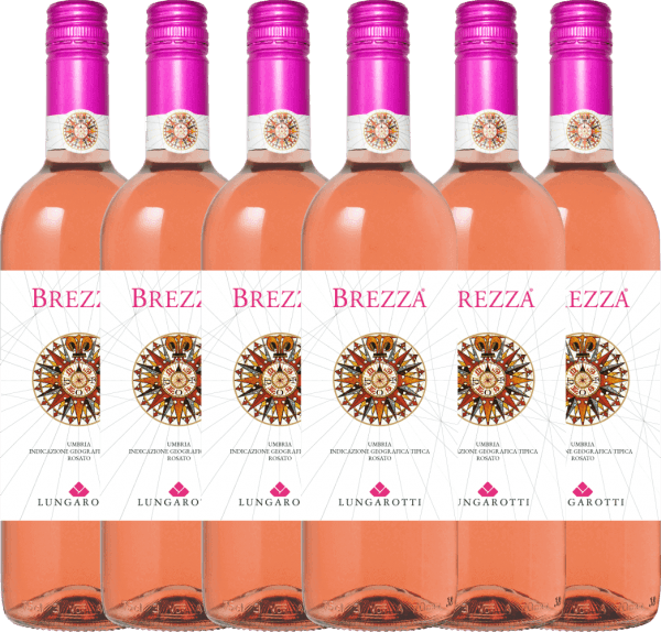6er Vorteils-Weinpaket - Brezza Rosa Umbria 2020 - Lungarotti
