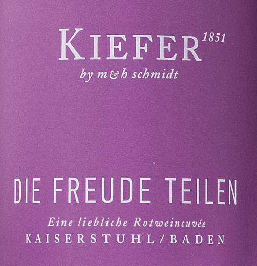 Die Freude teilen 2018 - Weingut Kiefer von Weingut Kiefer