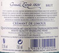 Vorschau: Aimery Grande Cuvée 1531 Crémant Brut - Sieur d'Arques