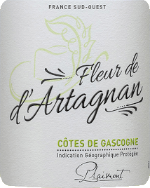 The Fleur de d 'Artagnan Blanc Côtes de Gascogne from Producteurs Plaimont is a fresh white wine, which flatters the nose with its wonderful citrus aromas and floral hints. This cuvée delights the palate with the fine balance of lively fruit acidity and a delicate residual sweetness. A wonderfully uncomplicated white wine for 1,000 occasions. Vinification for the Fleur de d'Artagnan Blanc This white wine cuvée is made from 80% Colombard and 20% Ugni Blanc. These grapes come from vineyards in Gers, the heart of the Gascony. The grapes are destemmed after being picked, squeezed and then gently pressed. The resulting must is cold-fermented with pure-bred yeasts. This preserves the freshness and fruitiness of this white wine. The winery Fleur de d'Artagnan of the winery Plaimont includes wines of extraordinary freshness, clarity and fruitiness with an honest grape character. It is mainly based on regional grape varieties. The vivacious wines are said to set an impressive monument to the famous musketeer d'Artagnan, whose portrait adorns the label. Food recommendation for the Fleur de d'Artagnan Blanc Enjoy this dry white wine with crisp salads, light fish dishes or with asparagus.