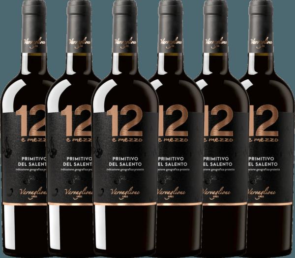 6er Vorteils-Weinpaket - 12 e Mezzo Primitivo 2017 - Varvaglione