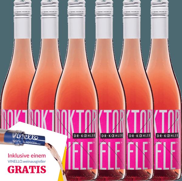 6er Vorteils-Weinpaket - Doktorspiele Rosé 2019 - Dr. Koehler von Weingut Dr. Koehler