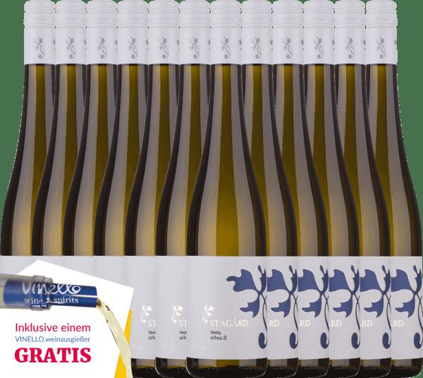 12er Vorteils-Weinpaket - Urban.R Riesling 2019 - Lesehof Stagard von Lesehof Stagård