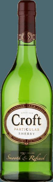 DerCroft Particular Pale Dry von Gonzalez Byass wird ausschließlich aus der Rebsorte Palomino Fino vinfiziert, die im spanischen Weinanbaugebiet DO Jerez wachsen - ein Sherry mit eleganten, nussigen Charakter. Im Glas glänzt dieser Wein in einem strahlenden Weißgold mit glitzernden Reflexen. Das aromentypische, raffinierte Bouquet wird von leicht nussigen Noten und einem fein-hefigen Hauch mit Anklängen nach Eichenholzwürze bestimmt. Am Gaumen ist dieser Sherry wunderbar frisch und lebendig. Die zarte Süße ist sehr gut in den eleganten Körper integriert und begleitet in den langen, nussigen Nachhall. Speiseempfehlung für den Gonzalez ByassCroft Particular Pale Dry Sherry Genießen Sie diesen Sherry aus Spanien zu frischer Fisch vom Grill, Hähnchenbrust in cremiger Sauce oder auch zu gereiften Käsesorten.