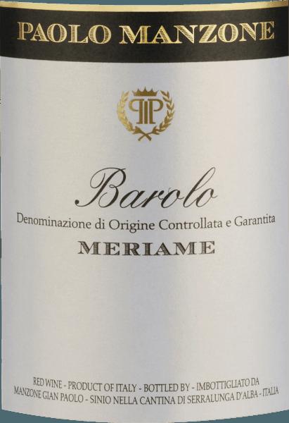 Meriame Barolo DOCG 2015 - Paolo Manzone von Paolo Manzone