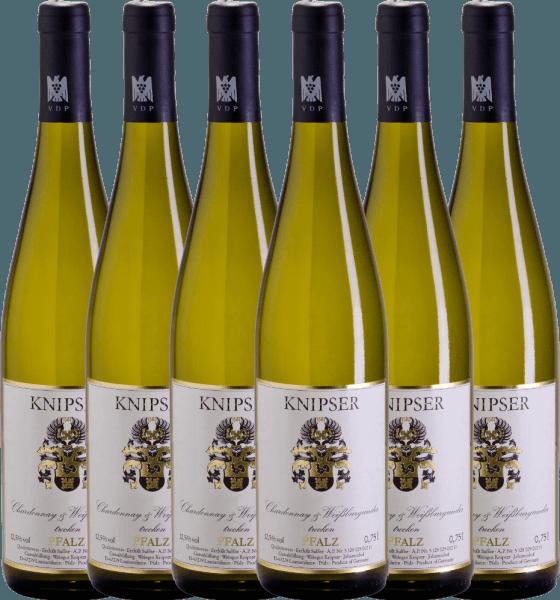 6er Vorteils-Weinpaket - Chardonnay & Weißburgunder 2019 - Knipser