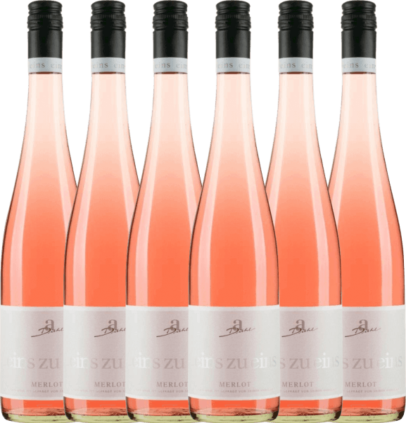 6er Vorteils-Weinpaket - Merlot Rosé eins zu eins feinherb 2019 - A. Diehl