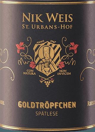Piesporter Goldtröpfchen Riesling Spätlese 2018 - Nik Weis St. Urbans-Hof von Weingut Nik Weis St. Urbans-Hof