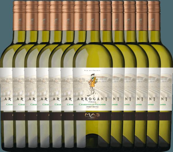 12er Vorteils-Weinpaket - Ribet Blanc Chardonnay Viognier 2019 - Arrogant Frog