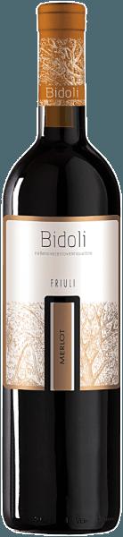 Der Merlot Grave del Friuli von Bidoli funkelt im Glas Rubinrot und entfaltet dabei sein offenes, fruchtiges und verführerisches Bouquet mit den Aromen von Heidelbeeren, schwarzen Johannisbeeren und Himbeeren. Dieser harmonische Rotwein aus Italien zeigt sich am Gaumen mit den Geschmacksnoten roter Beerenfrüchte, wie Himbeeren, und geht mit samtigen Tanninen und einem weichen Eindruck in einen fruchtigen Nachhall über. Speiseempfehlung für den Merlot von Bidoli Genießen Sie diesen trockenen Rotwein zu Geflügel, Rib-Eye-Steak mit Ofengemüse oder halbreifem Käse.