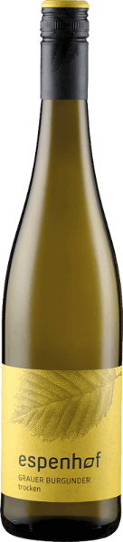 Der Grauer Burgunder vom Weingut Espenhof präsentiert sich im Glas in einem intensiven Strohgelb mit goldenen Reflexen und verzückt mit seinem vielschichtigen Bouquet. Dieses enthält die herrlichen Aromen von gelbem Apfel, Pfirsich und Honigmelone. Untermalt werden diese Fruchtnoten von dezenten Nuancen von Pistazie und Kokos. Dieser Weißwein ist am Gaumen schmelzig mit einem mittlerem Körper und angenehmen Säure. Vinifikation für denGrauer Burgundervom Weingut Espenhof Dieser Weißwein wird aus Grauburgunder aus der LagenFlonheimer Binger Berg hergestellt. Die Reben wachsen dort am Hang auf Böden mit kalkhaltigem Tonmergel. Im Untergrund sorgen die Meeressedimente für Fülle und Schmelz bei den Weinen. Die Trauben für diesen Weißwein werden nach einer kurzen Standzeit vergoren und in Edelstahl und großen Holzfässern ausgebaut und bis zur Abfüllung auf der Vollhefe gelagert. Speiseempfehlung für den Grauer Burgunder vom Weingut Espenhof Genießen Sie diesen trockenen Weißwein zu gegrillter Hähnchenbrust in Sahne-Zitronen-Sauce, Pfifferlingen oder Steinpilzknödeln.