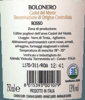 Vorschau: Bolonero Castel del Monte Rosso 2017 - Torrevento