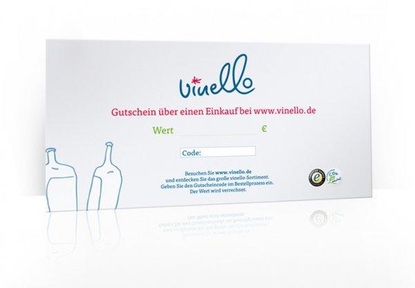 10 € VINELLO Geschenkgutschein im Umschlag, 300g Karton DIN A5 lang von VINELLO