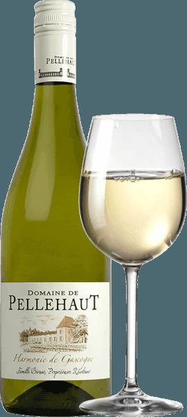 Der Harmonie de Gascogne Blanc von Domaine de Pellehaut aus dem französischen Weinanbaugebiet Gascogne ist eine, vielfältige, großartige und unkomplizierte Weißwein-Cuvée, die aus den Rebsorten Ugni Blanc, Sauvignon Blanc, Colombard, Chardonnay und Gros et Petit Manseng vinifiziert wird. Dieser Wein offenbart sich in einer strahlend hellen, strohgelben Farbe im Glas. Das ansprechend vielfruchtige Aroma erinnert an Zitrusfrüchte, Stachelbeeren, Akazienblüten und reife tropische Fruchtaromen mit würzigen und krautigen Nuancen. Am Gaumen werden die tropischen Fruchtaromen von einer frischen Säure, die bis in den Nachhall anhält, ausbalanciert. Beim Genuss desHarmonie de Gascogne Blancbemerkt man einen filigranen Körper und eine frische, lebhafte Balance. Vinifikation desDomaine de Pellehaut Harmonie Blanc Für die Vinifizierung desHarmonie de Cascogne Blanc verwendet das WeingutTrauben der Sorten Colombard, Ugni Blanc,Sauvignon Blanc, Gros Manseng und Chardonnay. Diese werden nach der Lese entrappt und anschließend in Form von Maische gepresst. Der dabei entstehende Most gelangt in Stahltanks, wird temperaturkontrolliert vergoren und reift anschließend für ca. ein halbes Jahr, bevor er in Flaschen abgefüllt wird. Speiseempfehlung für den Harmonie de Cascogne Blanc Wir empfehlen Ihnen diesen trockenen Weißwein aus Südfrankreich als Aperitif, zuMuscheln, Austern undGeflügel.
