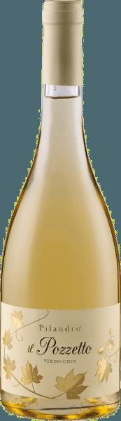 Der Il Pozzetto Verdicchio Jesi Classico DOC von Azienda Agricola Pilandro leuchtet Goldgelb im Glas und begeistert mit seinem frischen Bouquet, welches die Aromen von gelben und tropischen Früchten enthüllt. Abgerundet werden diese Fruchtnoten von kräutrigen Nuancen. Am Gaumen startet dieser Trebbiano süßlich. Diesem ersten Eindruck folgen zarte Wiesenkräuter und eine lebendige Säüre, welche diesem Weißwein seine Spannung und Frische verleiht. Vinifikation des Pilandro Il Pozzetto Die Trauben für diesen reinsortigen Weißwein werden von Hand gelesen und anschließend sanft gepresst. Dem schließt sich die temperaturkontrollierte Gärung in Edelstahltanks an, gefolgt von einer Verfeinerung in der Flasche nach der Abfüllung. Speiseempfehlung für den Pilandro Il Pozzetto Genießen Sie diesen trockenen Weißwein zu sommerlichen Salaten, Fisch, gegrilltem Geflügel oder Pasta.