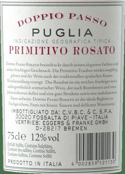 Doppio Passo Rosato Puglia IGT 2020 - CVCB von Casa Vinicola Carlo Botter